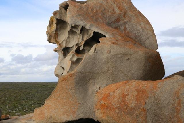 Large Lion shaped rocks in Australia