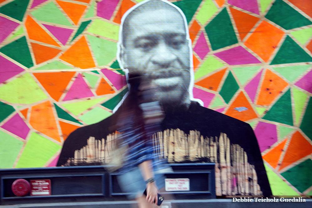 George Floyd, Mural , NYC 2020